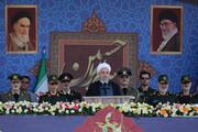 روحانی در رژه نظامی پیام «صلح» داد