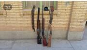 ۴ قبضه اسلحه شکاری در ارتفاعات هشتاد پهلو خرم آباد کشف و ضبط شد