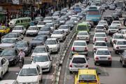 ترافیک نیمه سنگین در آزادراه کرج-تهران/ محورهای شمالی بارانی نیست