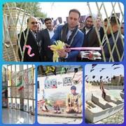 افتتاح نمایشگاه یاد یاران در شرکت توزیع نیروی برق استان سمنان
