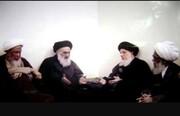 عکس| دیدار تاریخی چهار مرجع تقلید در منزل آیت الله سیستانی