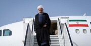 President Rouhani arrives in New York to attend UNGA meeting