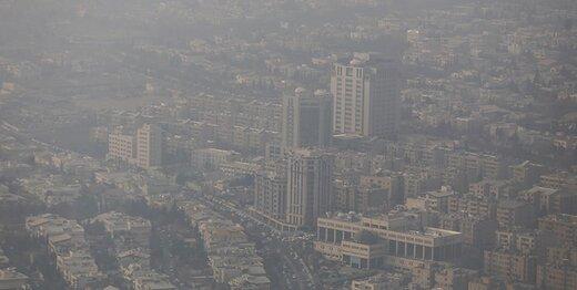 پاییز با آلودگی هوا آمد/ شاخص کیفیت هوا تهران در روز اول مهر