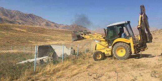 تخریب ۳۵ مورد ساخت و ساز غیرمجاز در حریم مشکین دشت کرج