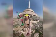 فیلم | صحنه پرش ارشا اقدسی از برج میلاد