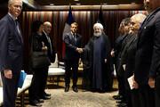 تصاویر | دیدار رئیس جمهور روحانی و مکرون در نیویورک