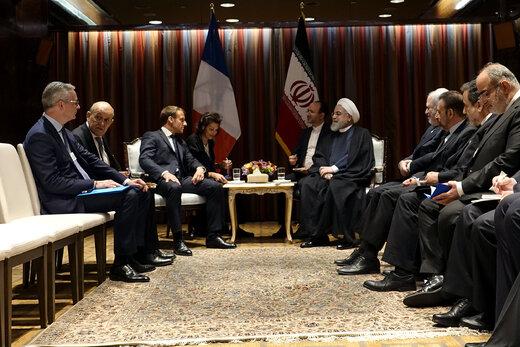 دیدار روحانی با رئیسجمهور فرانسه