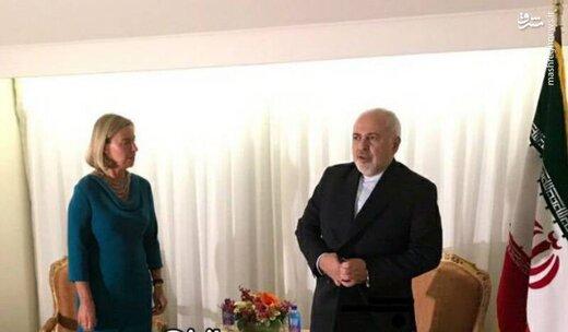 محادثات بين ظريف وموغريني حول الاتفاق النووي