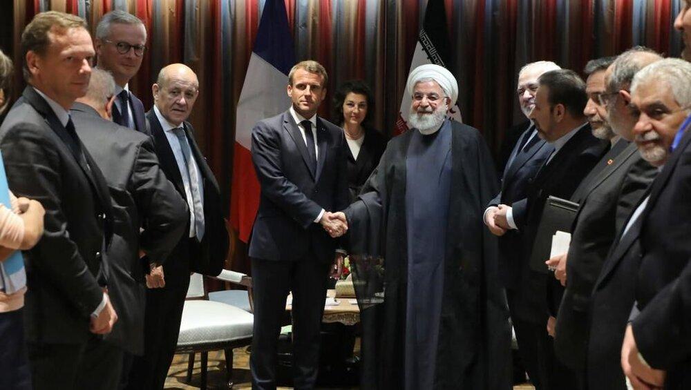محادثات بين روحاني وماكرون في نيويورك