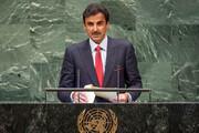 فیلم   حمایت امیر قطر از فلسطین در مجمع عمومی سازمان ملل
