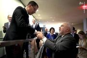 عکس   دیدار غیرمنتظره ظریف با وزیرخارجه ونزوئلا