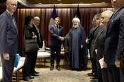پست اینستاگرامی روحانی درباره پیش شرط مذاکره با آمریکا +عکسی از دیدار همزمان با جانسون و مکرون