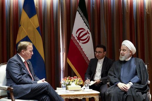 دیدار روحانی با نخستوزیر سوئد