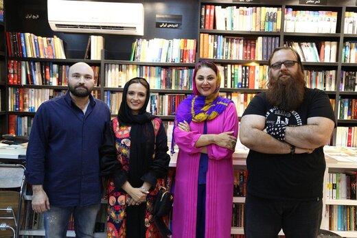 تصاویری از لاله اسکندری و گلاره عباسی در یک مراسم ادبی