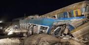 فوت یک مهماندار در حادثه قطار زاهدان به تهران/ عکس