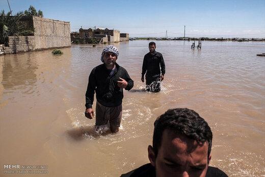 استاندار خوزستان: ۱۰ هزار نفر در خوزستان خسارت سیل دریافت کردند