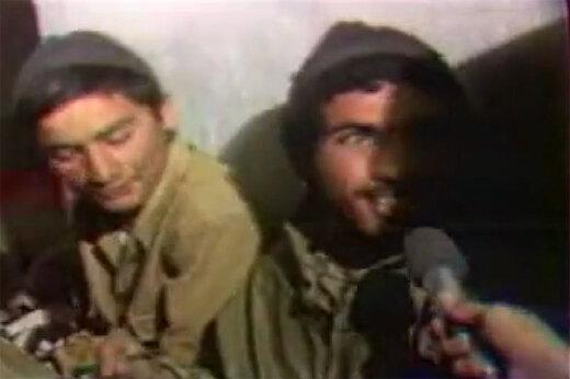 فیلم | واکنش جالب رزمنده جوان به عکس صدام در جبهه
