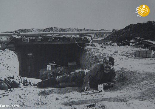 سرباز زخمی عراقی در جبهه جنوب