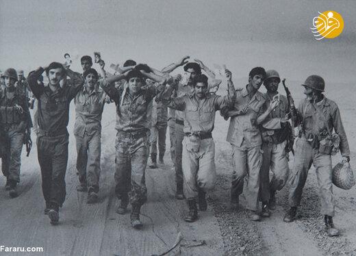 اسرای عراقی در نزدیکی خرمشهر