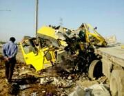 فداکاری راننده تریلی برای حفظ جان دیگران منجر به فوت او شد