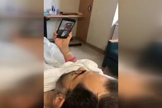 فیلم | گفتگوی تصویری ظریف و روانچی در بیمارستان