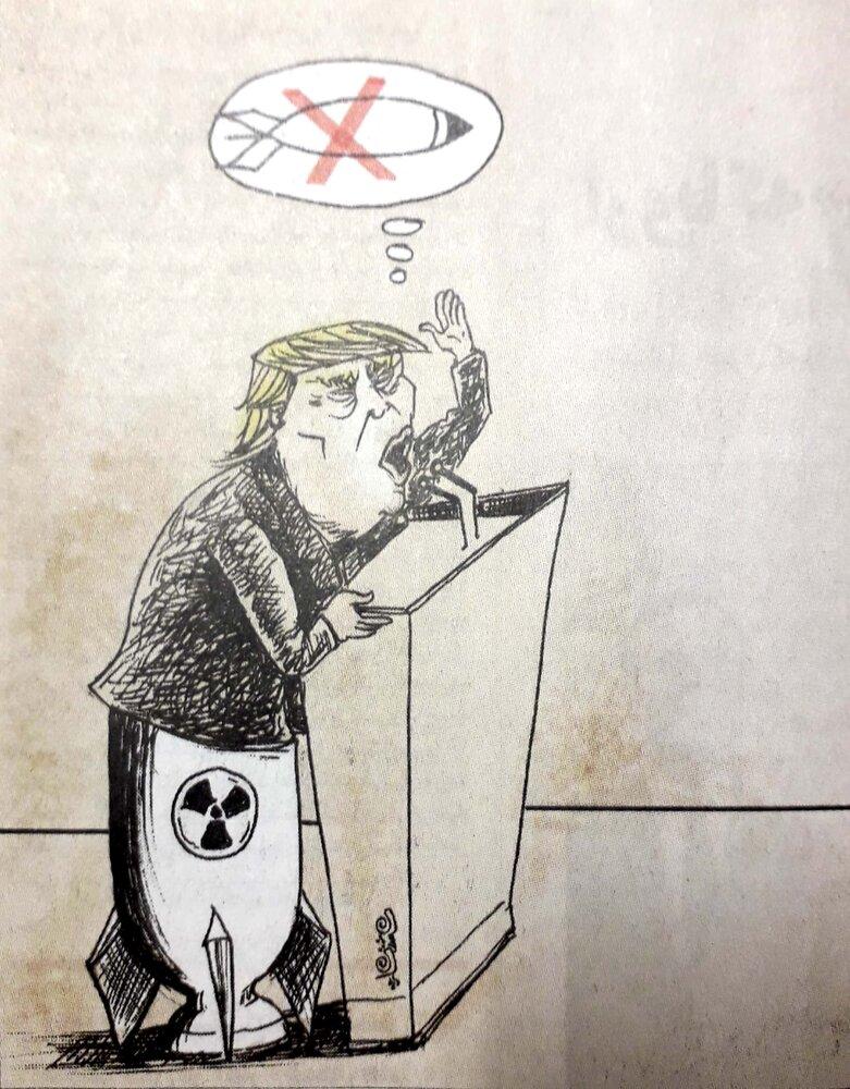 سخنراني ترامپ در اجلاس سازمان ملل از نمايي ديگر!