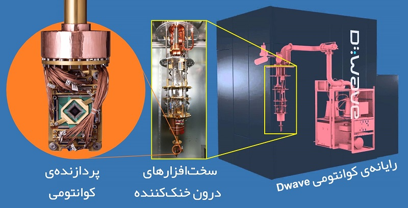شرکت کانادایی «D-Wave» یکی از نخستین عرضهکنندگان رایانههای کوانتومی تجاری است و پردازندهی کوانتومی آن ۲۰۰۰ کیوبیت را پردازش میکند. پردازندهی D-Wave بر اساس فرآیند خنکسازی بیدررو عمل میکند و در محاسبات مسائل بهینهسازی به کار میآید، ازاینرو برخی کارشناسان، این پردازنده را جزء پردازندههای کوانتومی به حساب نمیآورند.