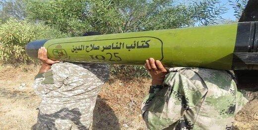 گروه «مقاومت مردمی» فلسطین از یک موشک جدید رونمایی کرد/عکس