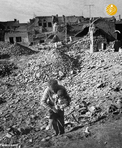 ویرانه های دزفول پس از بمباران