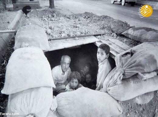 خانواده آبادانی در پناهگاه