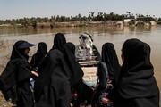 تصاویر | تردد خطرناک اهالی روستاهای اهواز با قایق