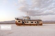 تصاویر | دریاچه ارومیه در روزهای پاییزی