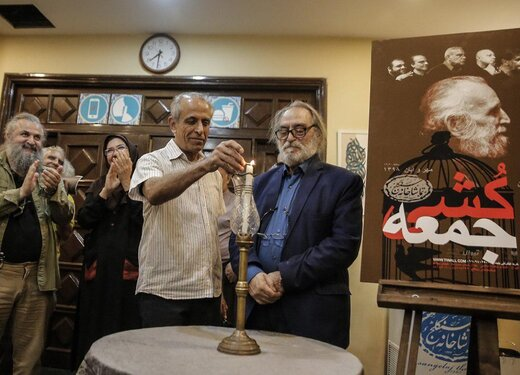 اسماعیل خلج، میزبان هنرمندان پیشکسوت در سنگلج شد/ عکس