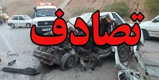 تصادف زنجیرهای در اتوبان قم-تهران