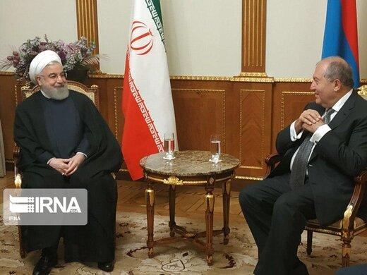 روحانی با رییس جمهوری ارمنستان دیدار کرد