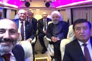 عکس | سلفی نخستوزیر ارمنستان با رئیس جمهور روحانی و پوتین