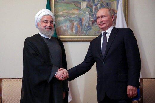 تصویری از دیدار حسن روحانی با ولادیمیر پوتین در حاشیه اجلاس اتحادیه اوراسیا