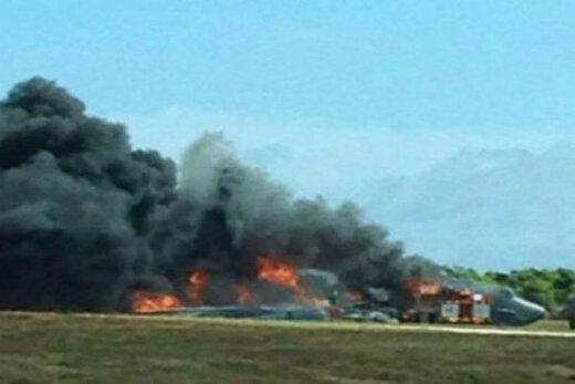 بمبافکن بی- ۱۷ آمریکا سقوط کرد