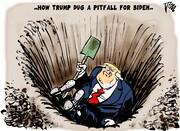 ترامپ چطور توی این چاه افتاد؟!