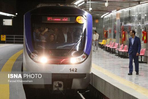 کاهش فاصله حرکت قطارها در خط ۷ متروی تهران