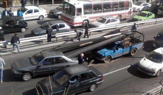 چرا از نیسان با بار آهن باید بترسیم/عکس