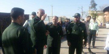 حضور یک فرمانده سپاه در جمع معترضان روستای چنار محمودی بعد از انتشار ویروس ایدز