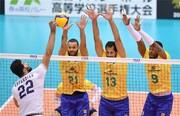 شکست تیم ملی ایران مقابل برزیل/جانفشانی جوانان مقابل غول والیبال