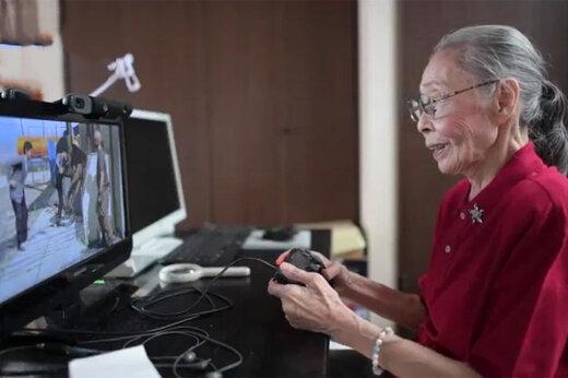 فیلم | اگر میتوانی با این مادربزرگ سالخورده GTA بازی کن!
