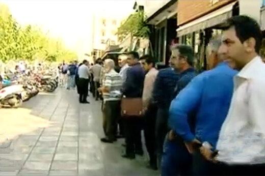 فیلم   صف بسیار طولانی مسافران اربعین مقابل اداره گذرنامه