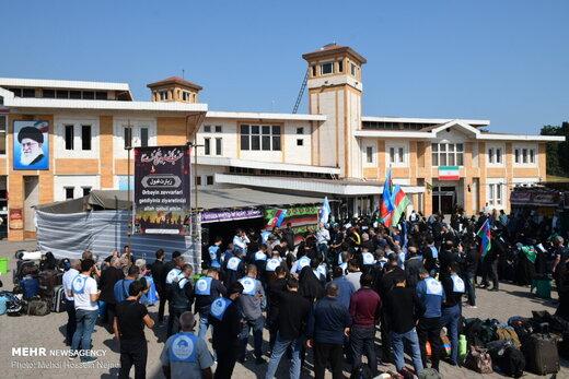 ورود زائران خارجی اربعین حسینی به مرز زمینی آستارا