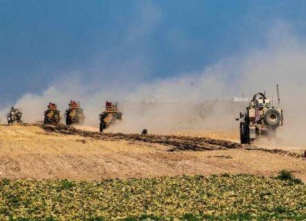 ورود کامیونهای حامل کمک نظامی آمریکا به کردها