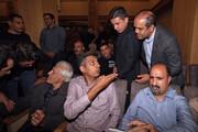 تصاویر | عادل، دایی، پروین و دیگران در مراسم ترحیم جعفر کاشانی