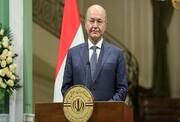 رییس جمهوری عراق: تیراندازی به معترضان تصمیم دولت نبود