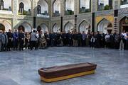 فیلم | تشییع پیکر قاری قرآنی که بزرگان مشهد را به صحن جمهوری آورد